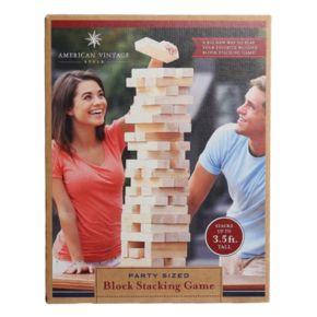 American Vintage Stacking Wood Blocks Game