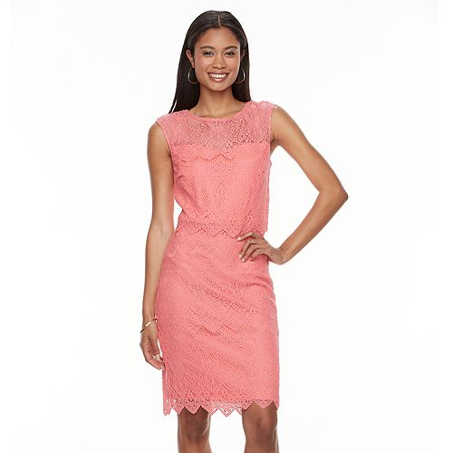 Women's Chaya Scalloped Lace Sheath Dress