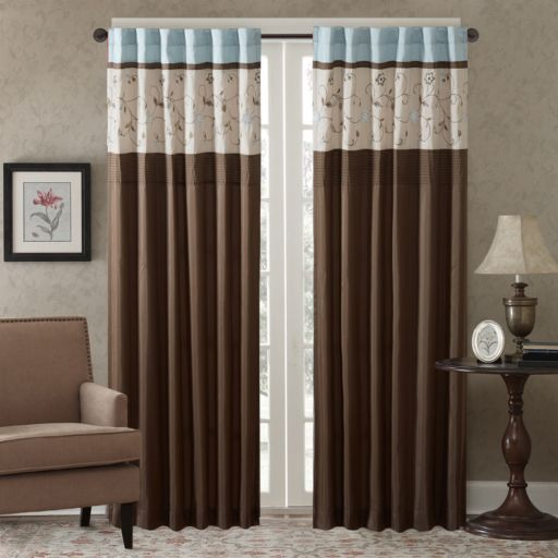 Madison Park Serene Embroidered Window Curtain