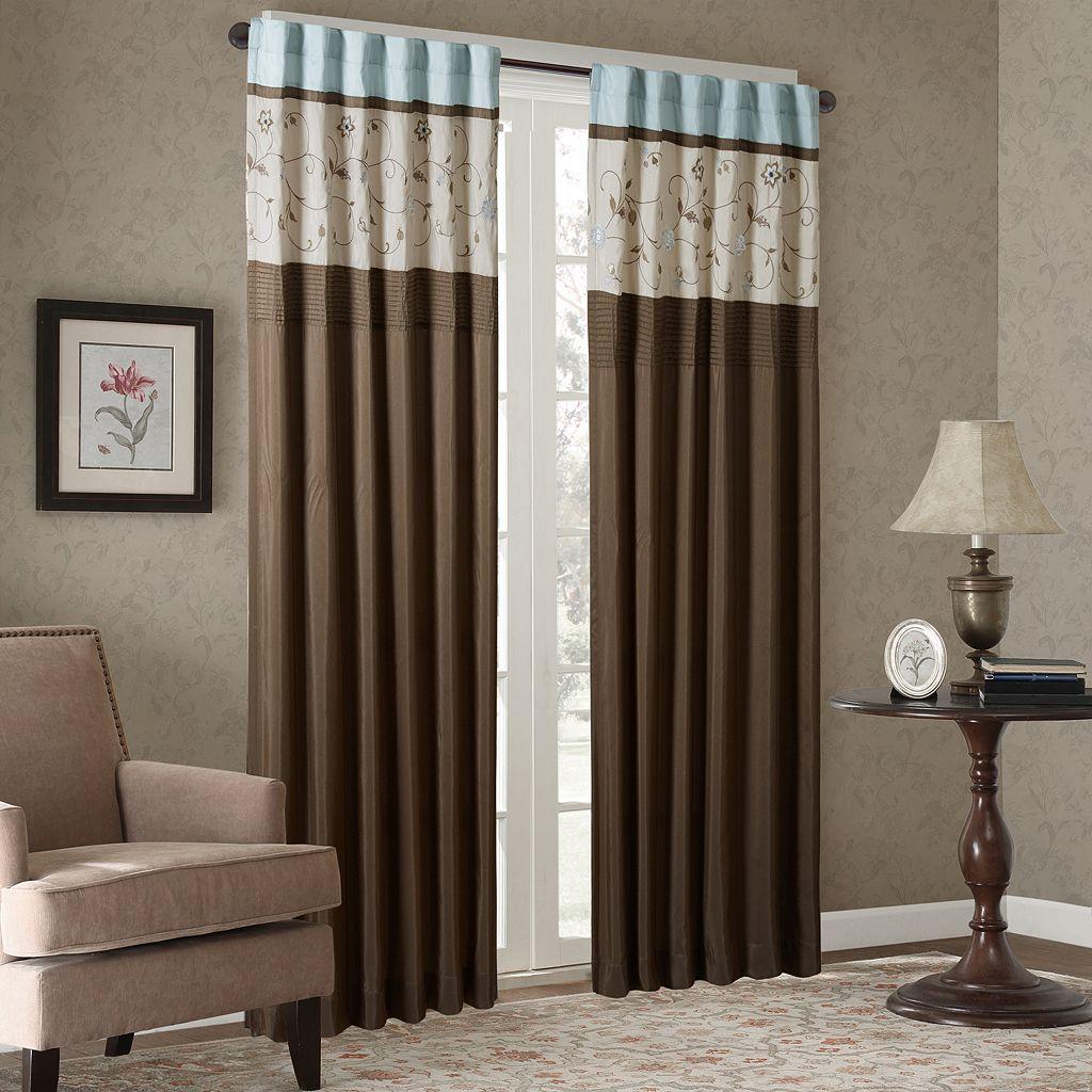Madison Park Serene Embroidered Window Curtain
