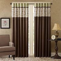 Madison Park Estella Embroidered Window Curtain