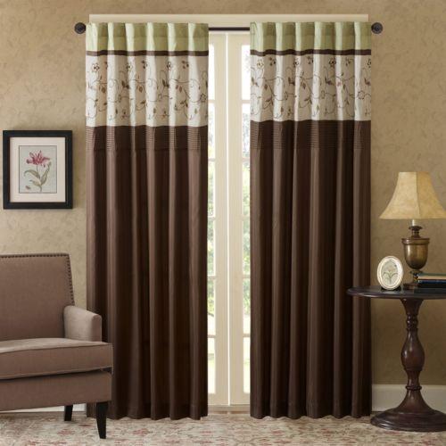 Madison Park Estella Embroidered Curtain