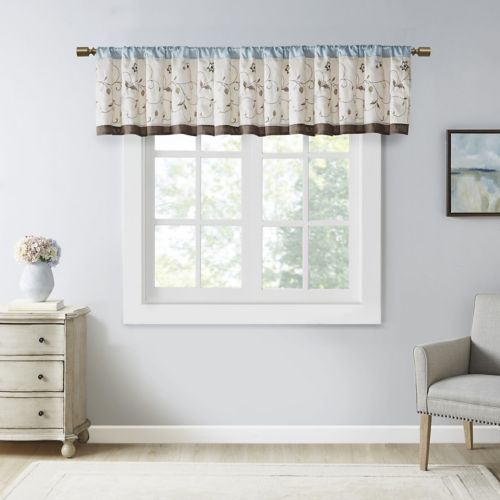 Madison Park Serene Embroidered Valance