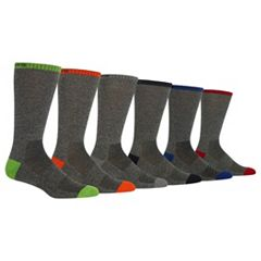 Men's Chaps 6-pack Marled Contrast Crew Socks