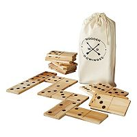 American Vintage Jumbo Wood Dominoes Set