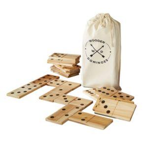 American Vintage Jumbo Wood Dominoes Set