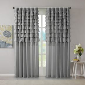 Intelligent Design 1-Panel Kacie Ruched Window Curtain