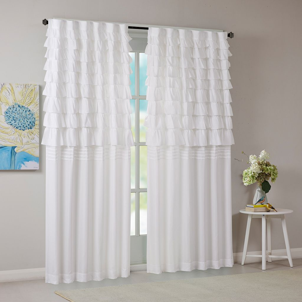 Intelligent Design Demi Ruched Window Curtain