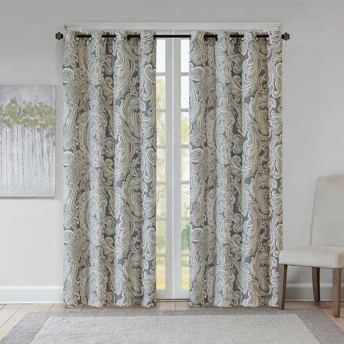 Madison Park 1-Panel Pure Dermot Paisley Window Curtain