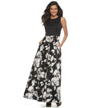 Women's Chaya Floral Pleated Evening Gown