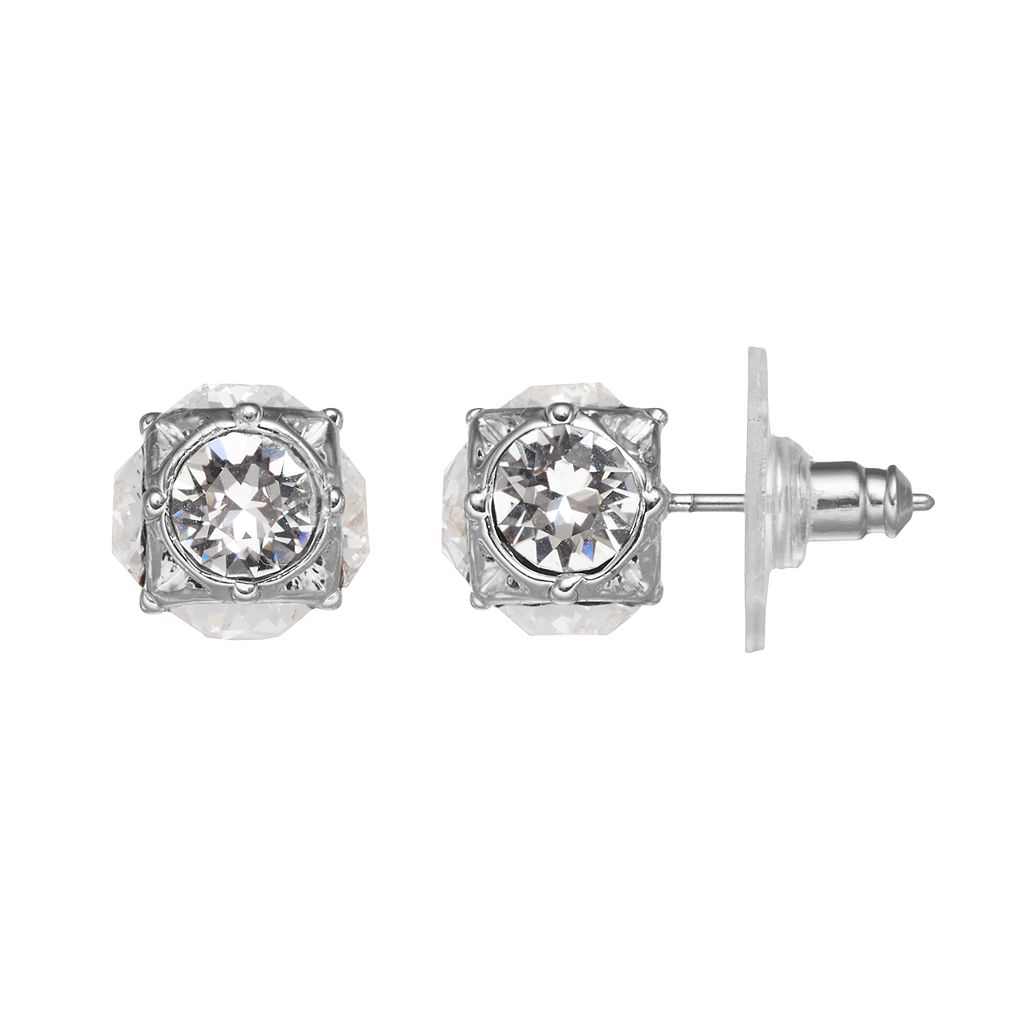 Dana Buchman Cube Stud Earrings