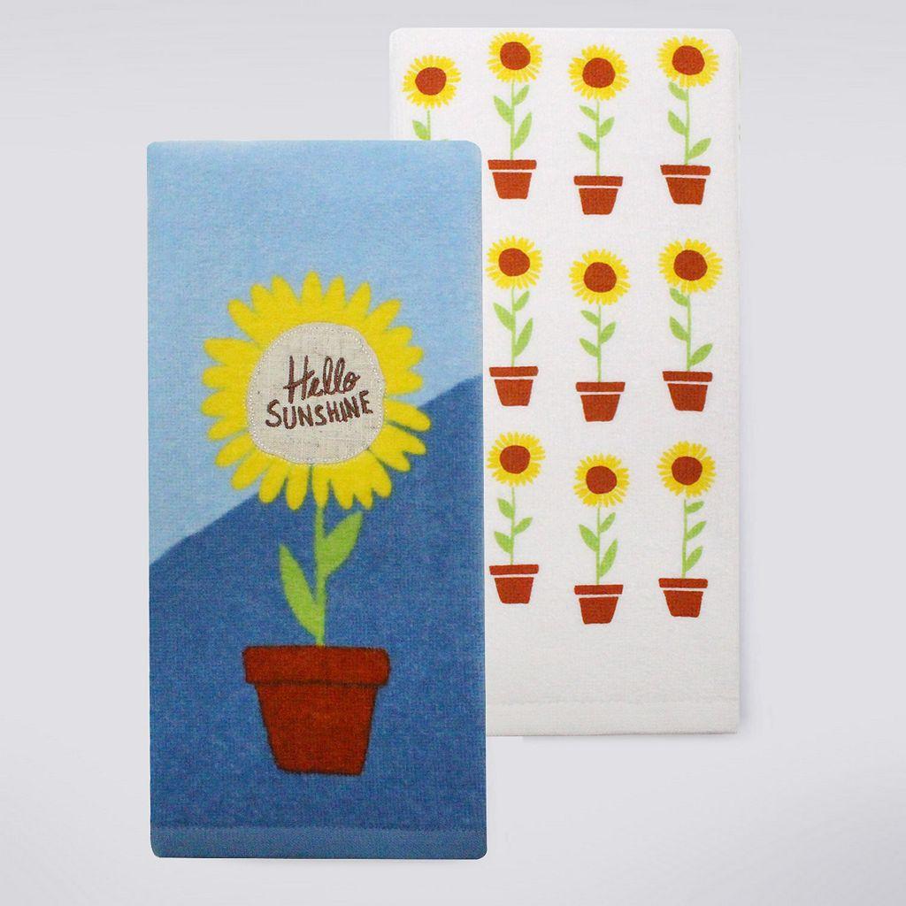 Celebrate Fall Together Full Bloom Kitchen Towel 2-pk.