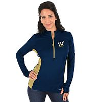 Plus Size Majestic Milwaukee Brewers 1/2-Zip Pullover