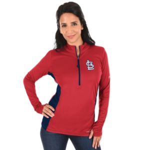 Plus Size Majestic St. Louis Cardinals 1/2-Zip Pullover