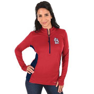 Plus Size Majestic St. Louis Cardinals 1/2-Zip Pullover