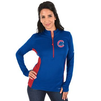 Plus Size Majestic Chicago Cubs 1/2-Zip Pullover