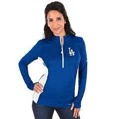 Plus Size Majestic Los Angeles Dodgers 1/2-Zip Pullover