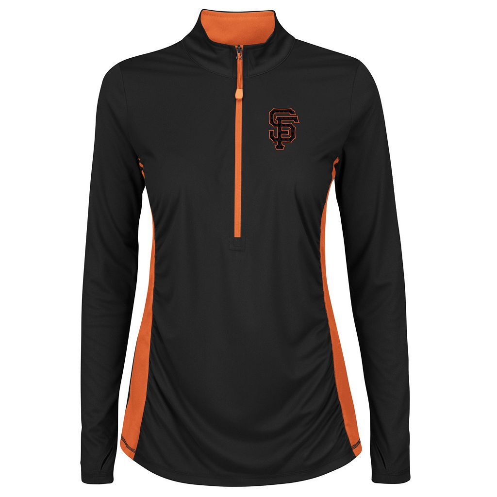 Plus Size Majestic San Francisco Giants 1/2-Zip Pullover