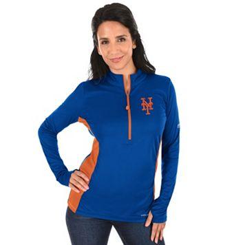 Plus Size Majestic New York Mets 1/2-Zip Pullover