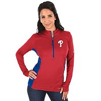 Plus Size Majestic Philadelphia Phillies 1/2-Zip Pullover