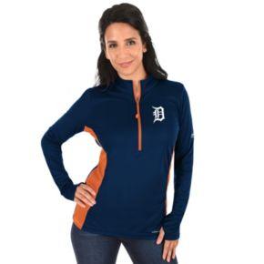 Plus Size Majestic Detroit Tigers 1/2-Zip Pullover