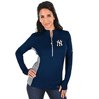 Plus Size Majestic New York Yankees 1/2-Zip Pullover