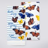 Celebrate Fall Together Butterfly Lines Kitchen Towel 2-pk.