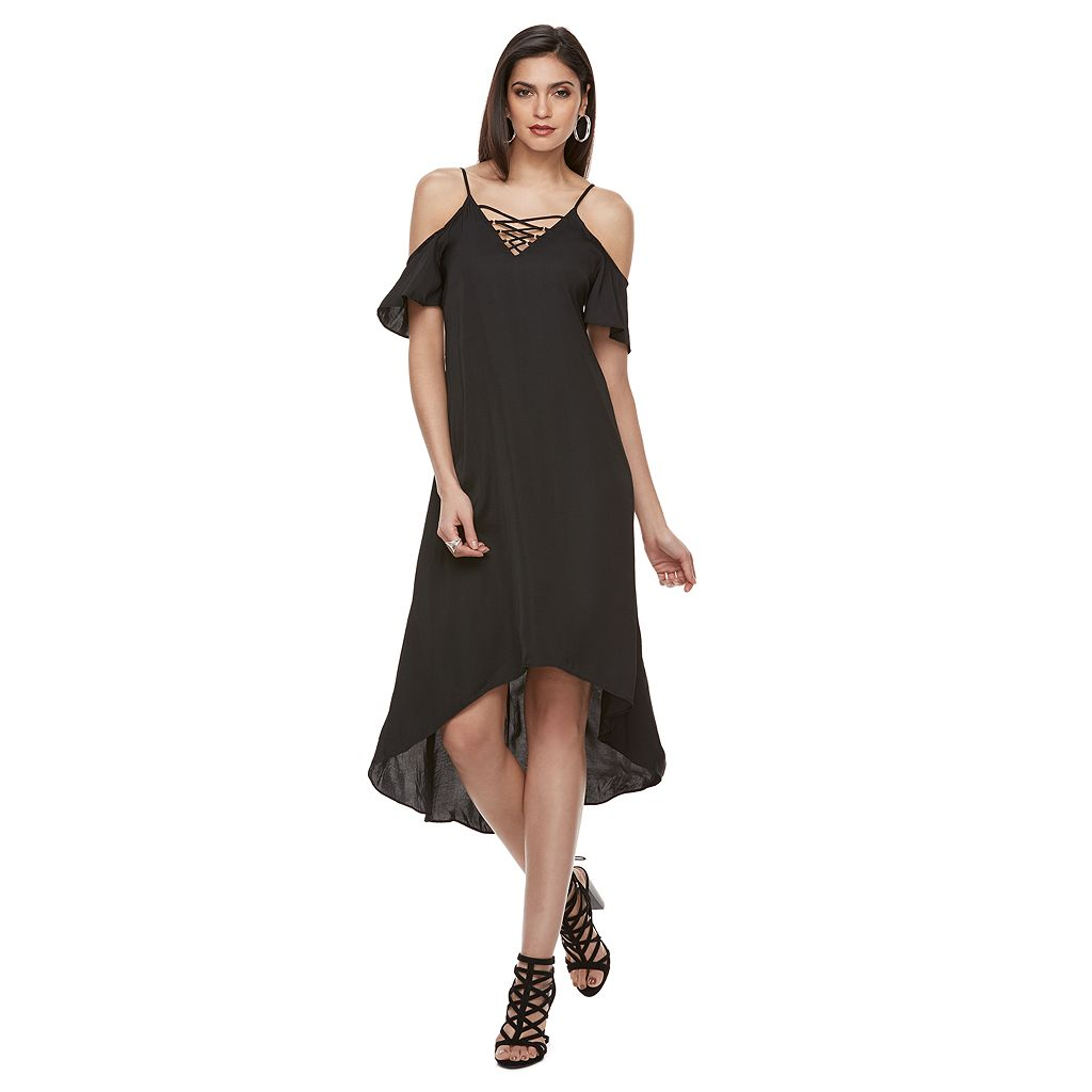 Women's Jennifer Lopez Cold-Shoulder High Low Dress