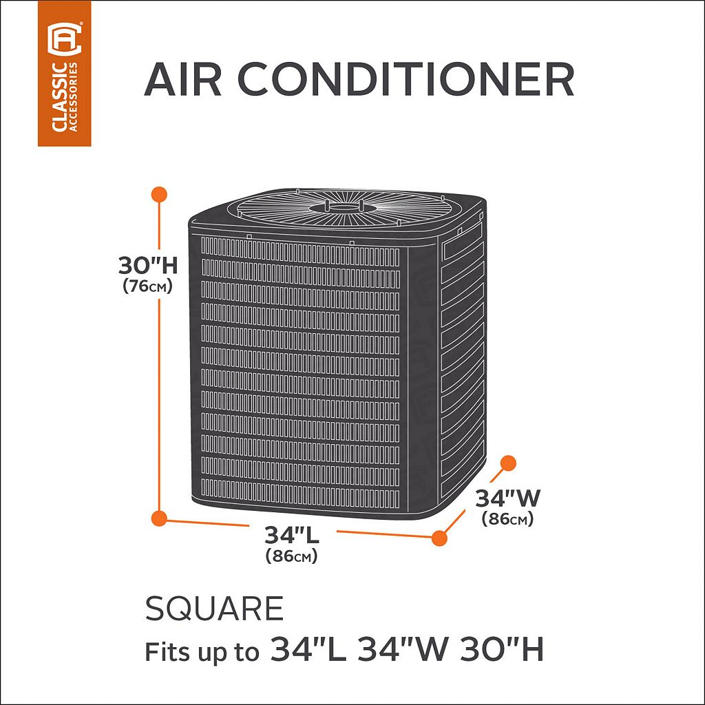 Atrium Square Outdoor Air Conditioner Cover