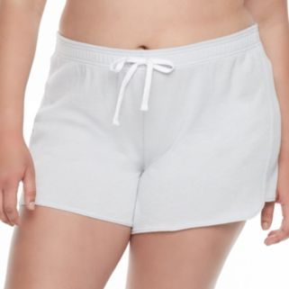 Juniors' Plus Size SO® French Terry Lounge Shorts