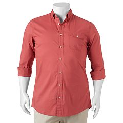 Big & Tall SONOMA Goods for Life™ Flexwear Modern-Fit Poplin Button-Down Shirt