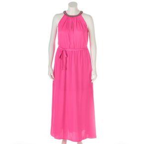 Plus Size Jennifer Lopez Embellished Maxi Dress