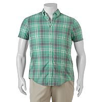 Big & Tall SONOMA Goods for Life™ Flexwear Modern-Fit Plaid Button-Down Shirt