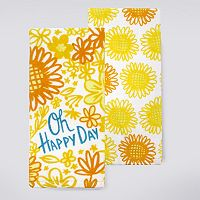 Celebrate Fall Together Hello Sunshine Kitchen Towel 2-pk.