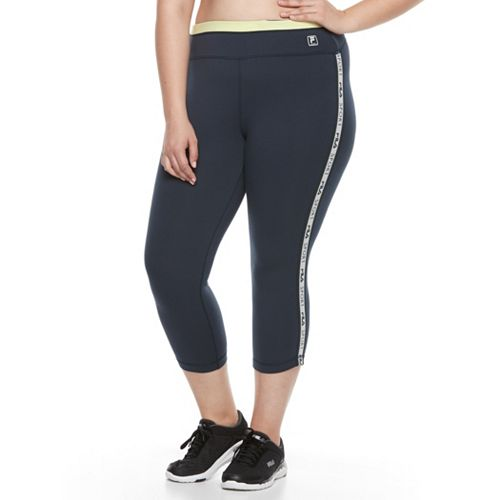 Plus Size FILA SPORT® Side Strip Crop Pants