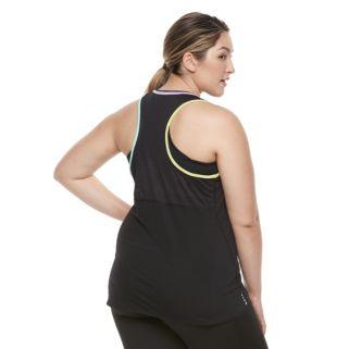 Plus Size FILA SPORT® Mesh 2-Fer Tank Top