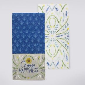 Celebrate Fall Together Choose Happiness Kitchen Towel 2-pk.