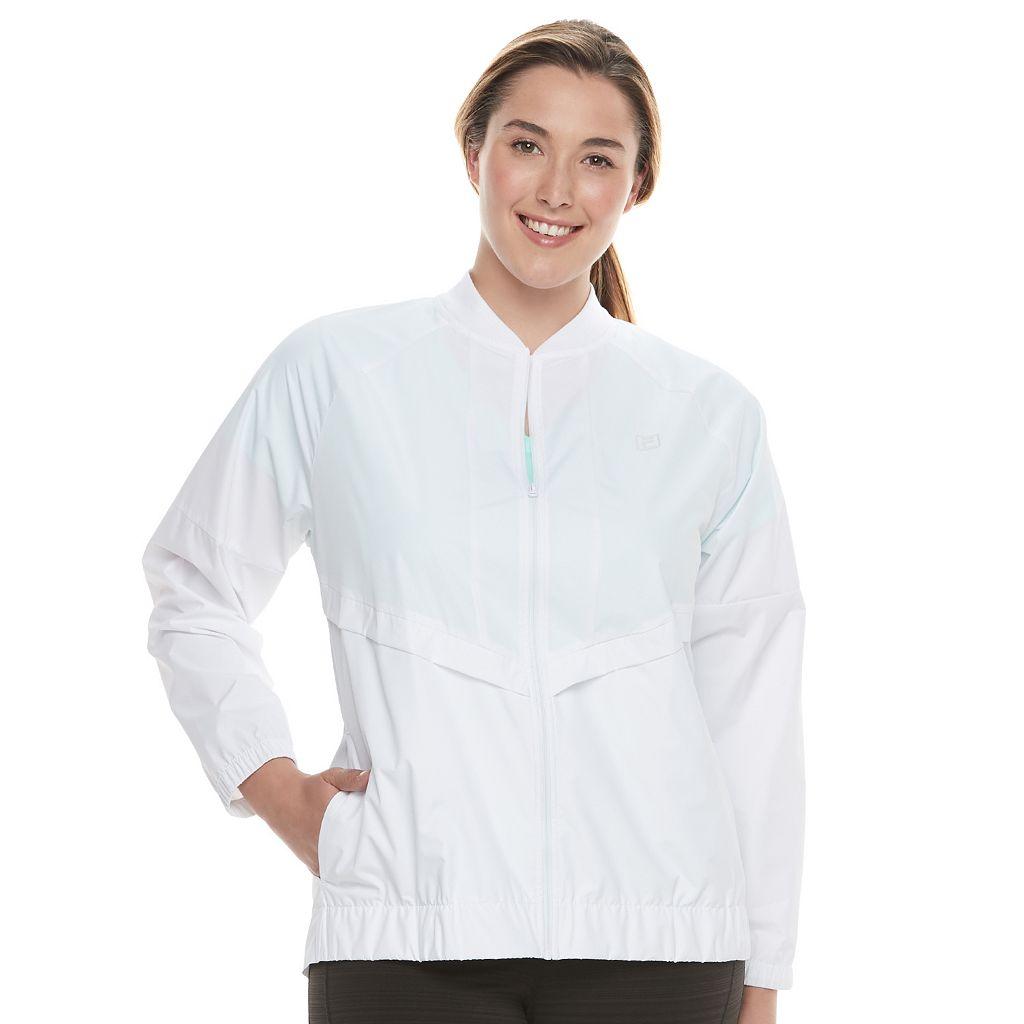Plus Size FILA SPORT® Chevron Flap Windbreaker Jacket