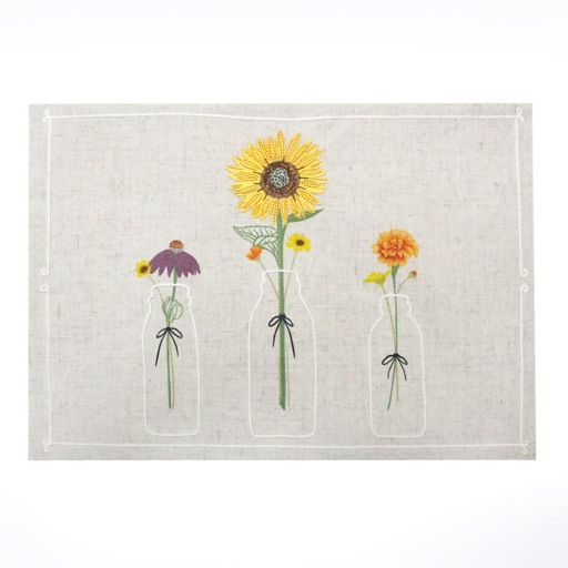 Celebrate Fall Together Milk Glass Vase Placemat