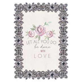 """Belle Maison 4"""" x 6"""" Luxe Jeweled Frame"""
