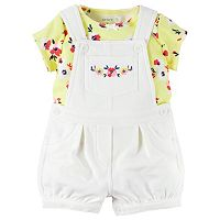 Baby Girl Carter's Floral Tee & French Terry Shortalls Set