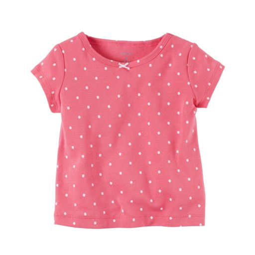 Baby Girl Carter's Polka-Dot Tee & Floral French Terry Shortalls Set