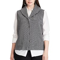 Plus Size Chaps Button-Down Sweater Vest