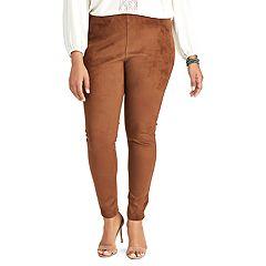 Plus Size Chaps Faux-Suede Skinny Pants