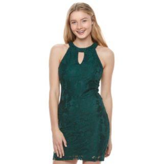 Juniors' Speechless Halter Bodycon Dress