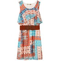 Girls 7-16 Speechless Popover Wide Belt Dress