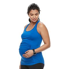 Maternity a:glow Mesh Ruched Workout Tank