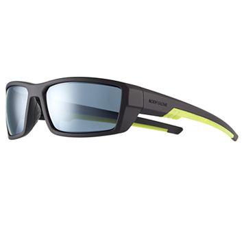 Men's Body Glove Polarized Rectangular Wrap Sunglasses