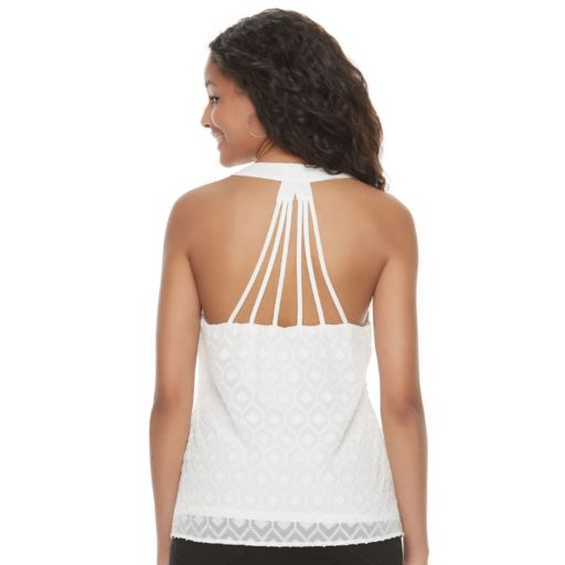 Juniors' Candie's® Textured Strappy Back Tank