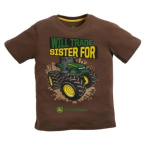"""Boys 4-7 John Deere """"Will Trade Sister For Tractor"""" Graphic Tee"""
